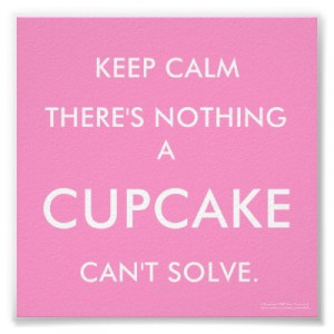 cupcake, cute, keep calm, pink, quotes