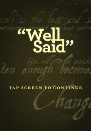 Download Well Said (Quotes by Noteworthy People) iPhone iPad iOS