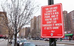 "RAP QUOTES"" Signs on Original Locations in New York by Jay Shells ..."