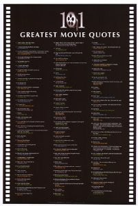 101 greatest movie quotes inspirational posters 24 x 36 style a $ 22 ...