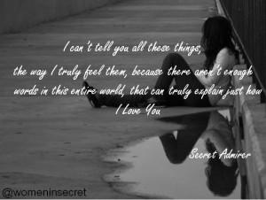 Secret Admirer Quotes Love...