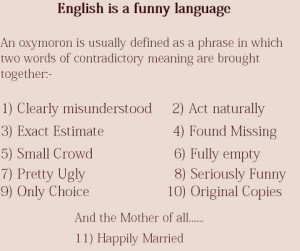 ENGLISH IS FUNNY YET CONFUSING