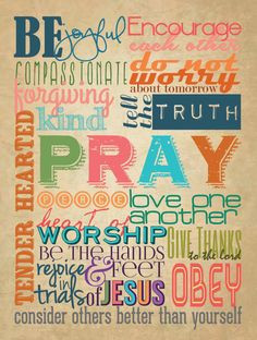 Colorful Christian Family Rules Poster, 18
