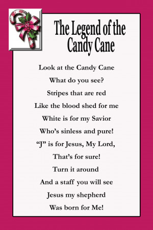 The Legend of the Candy Cane: Look at the Candy Cane - what do you see ...