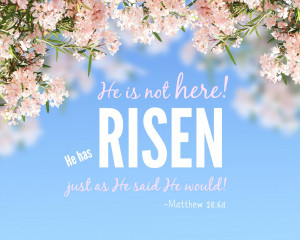 Inspirational Quote Page, Easter Quote, Easter Printable, He is Risen
