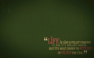 Green quotes life enjoy wallpaper background