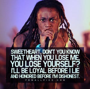 Lil Wayne If You Lose Me Quote Facebook Wall Pic