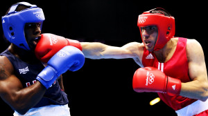 Armenian Hakobyan punching Gausha | Boxing 2012 Olymics HD Wallpaper