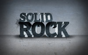 GOD IS MY SOLID ROCK..