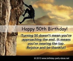 50th birthday quotes, cute, best, sayings, wish you