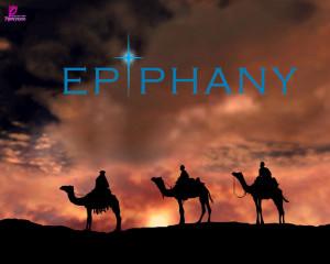 Epiphany Card and Wallpaper Holiday of Epiphany