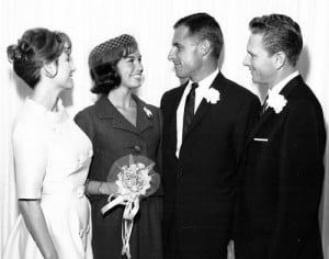 Grant Tinker and Mary Tyler Moore wedding 1962
