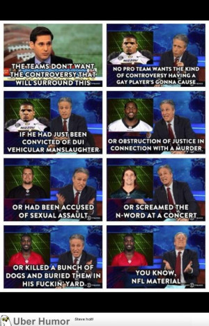 Jon Stewart on the NFL gay player controversy