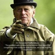 Prince Philip on the London traffic debate