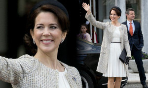 Princess Mary celebrate 75th Birthday of Queen Margrethe II of Denmark