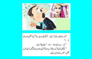 and Wife Jokes in Urdu: Husband tried to protest meekly when his wife ...