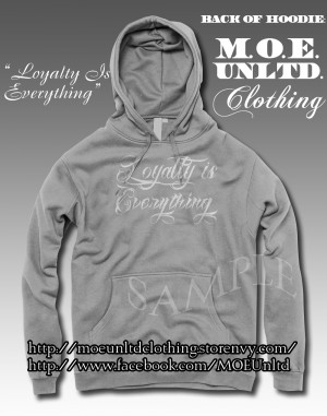 Loyalty is everything script adult hoodie sport gray/white