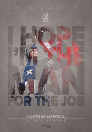 Awesome Avengers Character Quote Posters