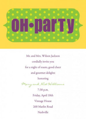 Oh Party Dinner Party Invite Invitations