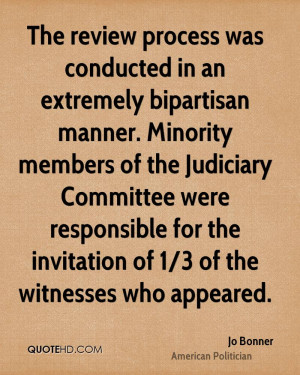 ... Judiciary Committee were responsible for the invitation of 1/3 of the