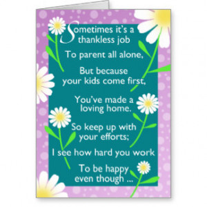 To Single Mom With Kids Funny Mother's Day Card