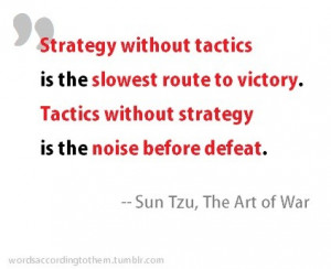 Sun tzu, quotes, sayings, tactics without strategy