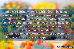 card 18th birthday quotes happy happy birthday to my sweet happy 18th ...