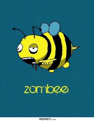 funny zombie bee