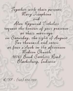 funny wedding quotes invitation   Wedding Invitations
