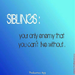 Quotes Pinquot, Brother And Sisters Quotes, Siblings Rivalry, Quotes ...
