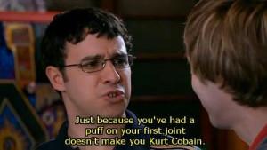the inbetweeners weed kurt cobain simon bird james buckley