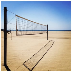 Volleyball Court With Label