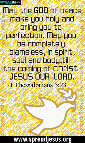 BIBLE QUOTES IMAGES HOLINESS -1 Thessalonians 5:23 May the GOD of ...