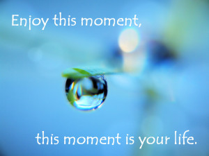 Enjoy This Moment, This Moment Is Your Life