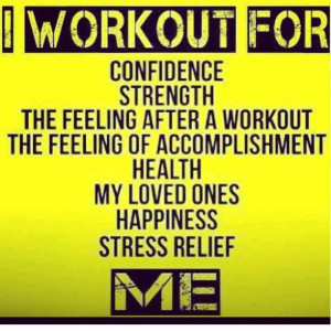 """Workout Motivation: """"I workout for confidence, strength, the feeling ..."""