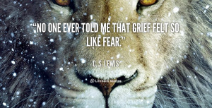 ever told me that grief felt so like fear quot c s lewis a grief
