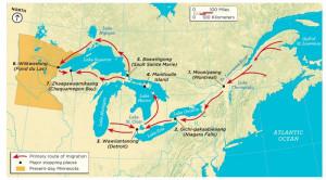 ojibwe migration map