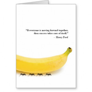 Teamwork Quote Henry Ford Banana Thank You Card