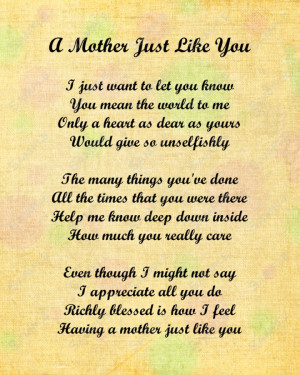 ... You Mom Poems From Daughter. .Happy Birthday Mother In Law Sayings
