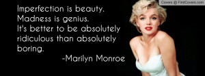 Marilyn Monroe Quote Profile Facebook Covers