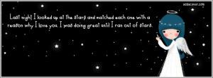 Stars Quote Facebook Cover