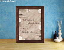 Contentment quote poster. Wall art decor. Printable art. Fortify ...