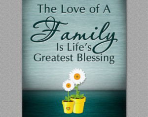 Family Quote, Family Love Wall Print, Green - Home Decoration, Wall ...