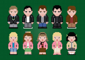 Grease 2 Characters - T-Birds and Pink Ladies - Cross Stitch PDF ...