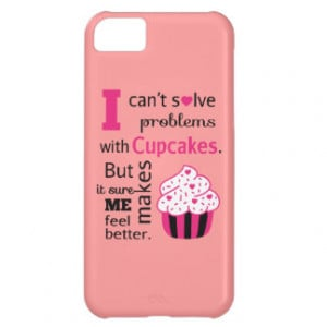 Cute Cupcake quote, Happiness iPhone 5C Cases