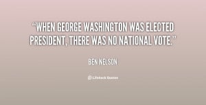 When George Washington was elected president, there was no national ...