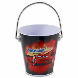 Disney Pixar Cars Lightning McQueen Small Tin Bucket