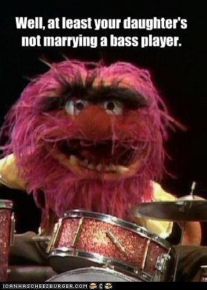 Bass player humor ; )