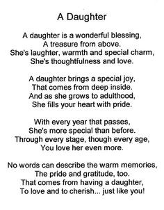 ... for -Daughter Poem Graphics   Daughter Poem Facebook Tags & Comments