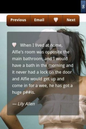 View bigger - Lily Allen Quotes for Android screenshot